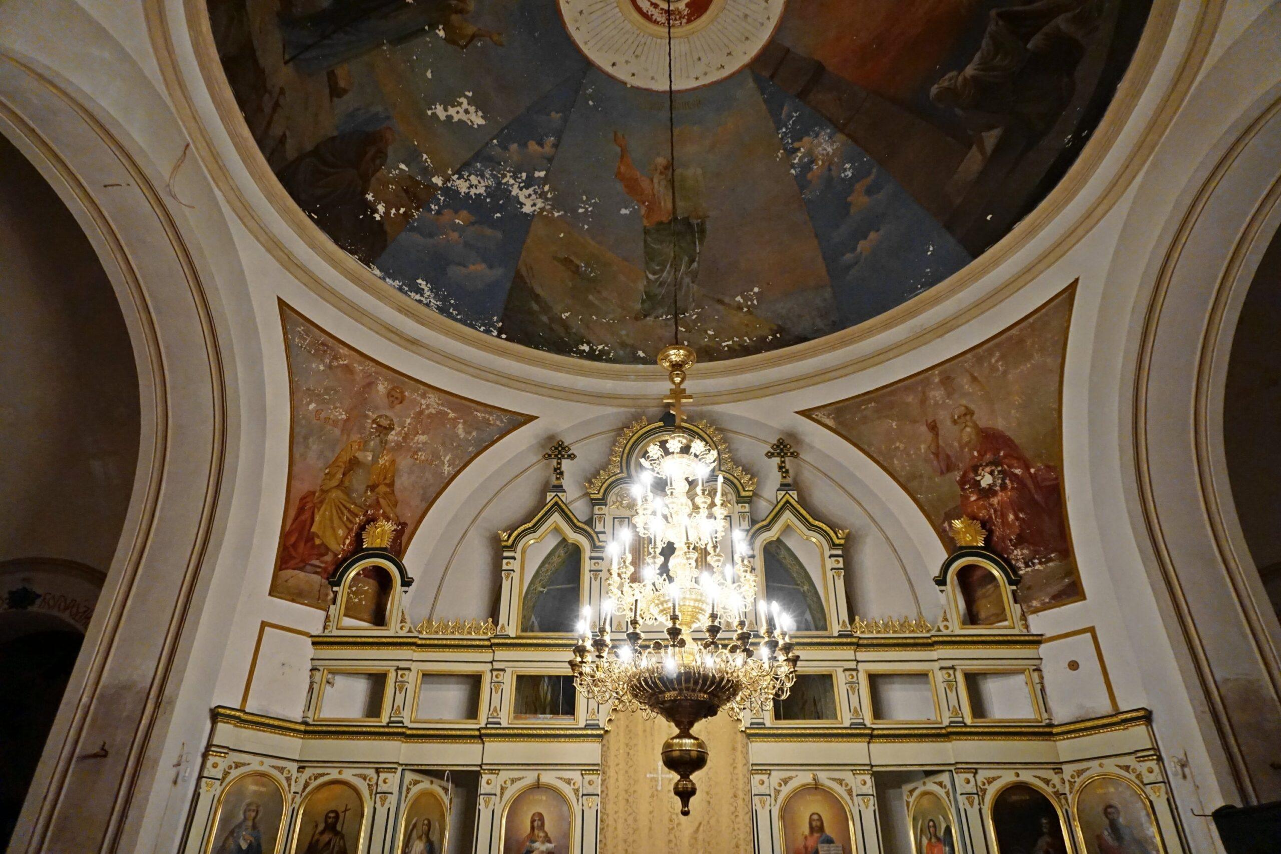 Ikonostas włodawskiej cerkwi, 2020 r.